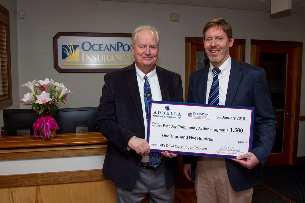 OCEANPOINT INSURANCE CONTRIBUTES TO HUNGER RELIEF PROGRAM