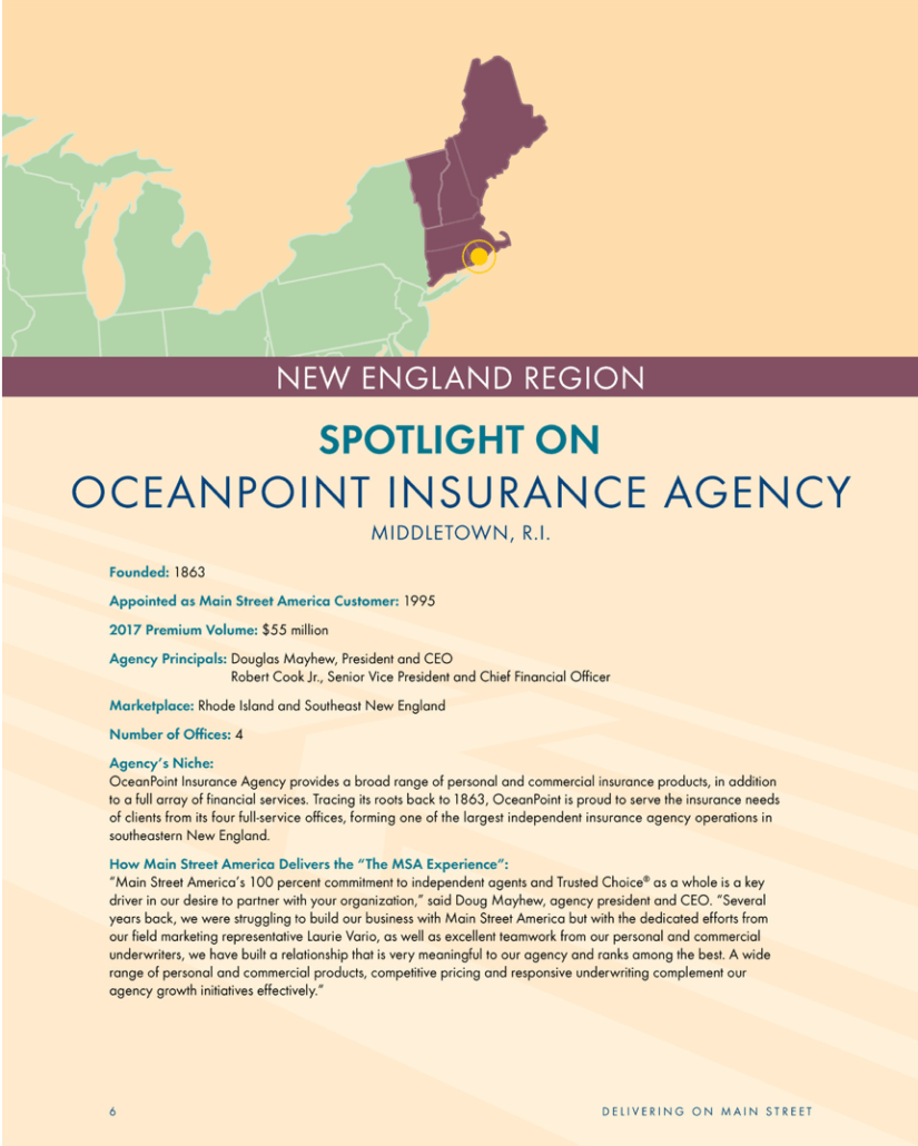 Main Street America Shines Spotlight ON OceanPoint Insurance