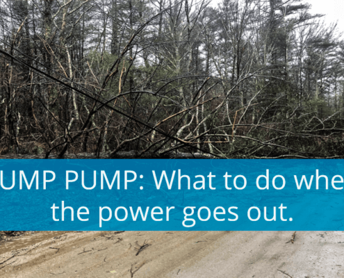 SUMP PUMP: What to do when the power goes out!