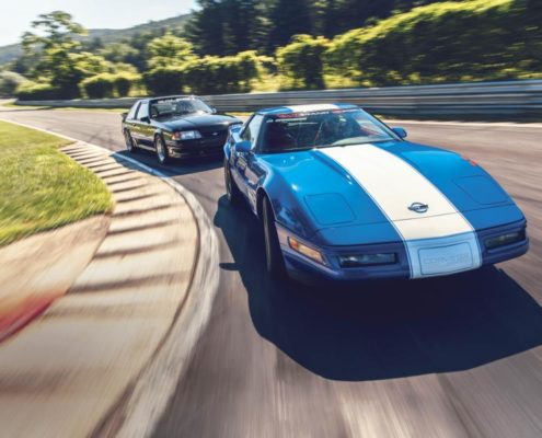 1996 Chevrolet Corvette Grand Sport and 1989 Saleen Mustang. Photo by DW Burnett