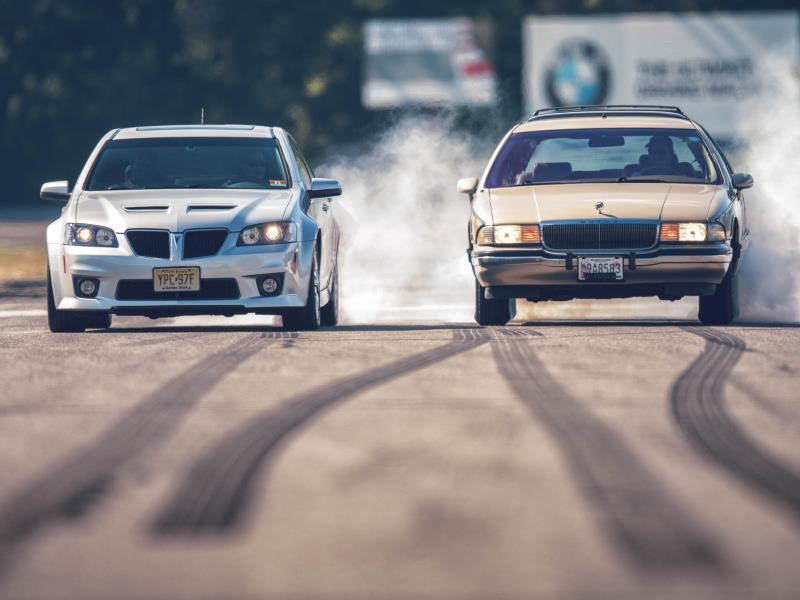 2009 Pontiac G8 GXP and 1994 Buick Roadmaster. Photo by DW Burnett